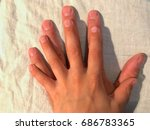 adult and child hand over each... | Shutterstock . vector #686783365