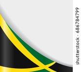 jamaican flag wavy abstract... | Shutterstock .eps vector #686784799