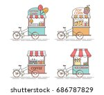 city elements of coffee ...   Shutterstock .eps vector #686787829