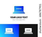 www logo template. logo... | Shutterstock .eps vector #686787901