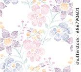 elegant seamless pattern with... | Shutterstock .eps vector #686790601