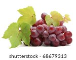 Bunch of grapes isolated on white background - stock photo