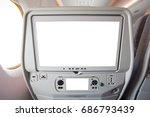 aircraft monitor in passenger... | Shutterstock . vector #686793439