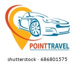 car logo design. creative... | Shutterstock .eps vector #686801575