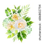 camellia flowers and leaves... | Shutterstock . vector #686802754