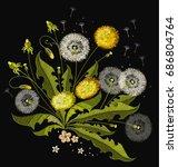 dandelions embroidery.... | Shutterstock .eps vector #686804764