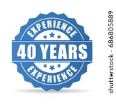 forty years experience vector... | Shutterstock .eps vector #686805889