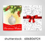 template front and back.... | Shutterstock .eps vector #686806924
