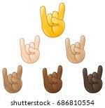 sign of the horns rock on hand... | Shutterstock .eps vector #686810554