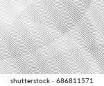 abstract background with lines... | Shutterstock .eps vector #686811571