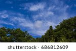 beautiful white clouds and... | Shutterstock . vector #686812609