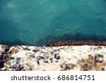 concrete blur pier over the... | Shutterstock . vector #686814751