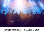 photo of many people enjoying... | Shutterstock . vector #686819155