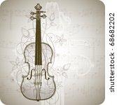 Violin  Music Sheets   Vintage...
