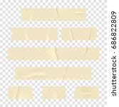 adhesive tape. set of realistic ... | Shutterstock .eps vector #686822809