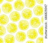 lemon  lime seamless pattern....   Shutterstock .eps vector #686825047