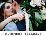 wedding bouquet on the...   Shutterstock . vector #686826829