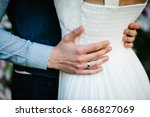 newlyweds are hugging. close up....   Shutterstock . vector #686827069