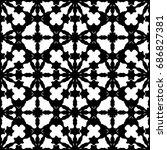 raster monochrome texture ... | Shutterstock . vector #686827381