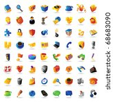 realistic vector icons set on... | Shutterstock .eps vector #68683090