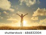it's a beautiful life. happy... | Shutterstock . vector #686832004