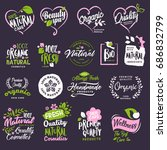 cosmetics and beauty badges and ... | Shutterstock .eps vector #686832799