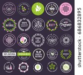 cosmetics and beauty stickers... | Shutterstock .eps vector #686832895
