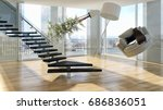 zero gravity  modern bright... | Shutterstock . vector #686836051