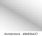 abstract halftone dotted... | Shutterstock .eps vector #686836627