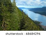 gastineau channel leading into... | Shutterstock . vector #68684296
