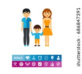 family therapy vector icon | Shutterstock .eps vector #686847391