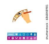 creating traditional batik... | Shutterstock .eps vector #686848981