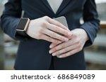 technology  gadget and business ... | Shutterstock . vector #686849089
