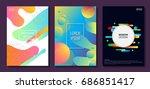 set of colorful minimal design... | Shutterstock .eps vector #686851417