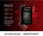 vector canister oil bottle... | Shutterstock .eps vector #686854669
