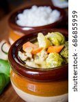 chicken and vegetable curry... | Shutterstock . vector #686855959