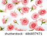 floral pattern made of pink... | Shutterstock . vector #686857471