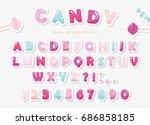 Paper Cut Out Sweet Font Desig...