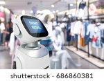 smart retail sales and crm... | Shutterstock . vector #686860381