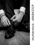 the groom in black trousers  a... | Shutterstock . vector #686862319