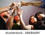 group of people celebrating ... | Shutterstock . vector #68686684
