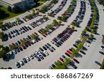 aerial image of hundreds of...