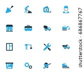 industry colorful icons set....   Shutterstock .eps vector #686867767