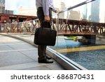 businessman standing  and... | Shutterstock . vector #686870431