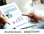 business man working and... | Shutterstock . vector #686870599