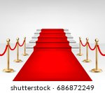 realistic vector red event... | Shutterstock .eps vector #686872249