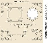 decorative ruling  decorating... | Shutterstock .eps vector #686878414