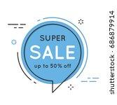 set of flat circle speech... | Shutterstock .eps vector #686879914