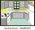 kitchen   simple design... | Shutterstock . vector #68688265