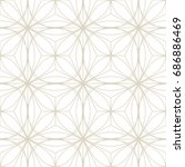art deco seamless background. | Shutterstock .eps vector #686886469